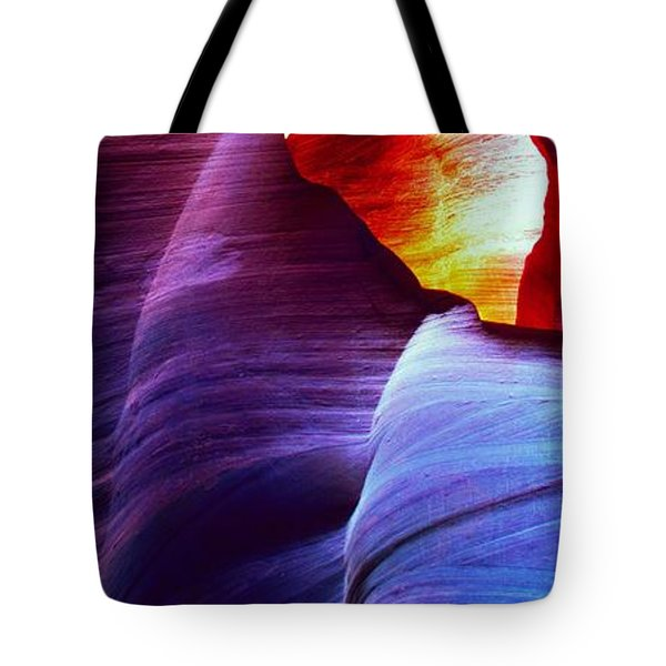 Tote Bag featuring the photograph Somewhere In America Series - Blue In Antelope Canyon by Lilia D