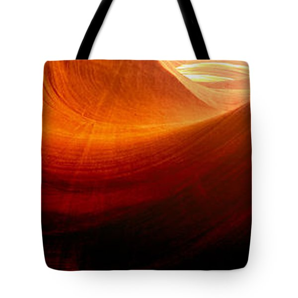 Tote Bag featuring the photograph Somewhere In America Series - Red Waves In Antelope Canyon by Lilia D