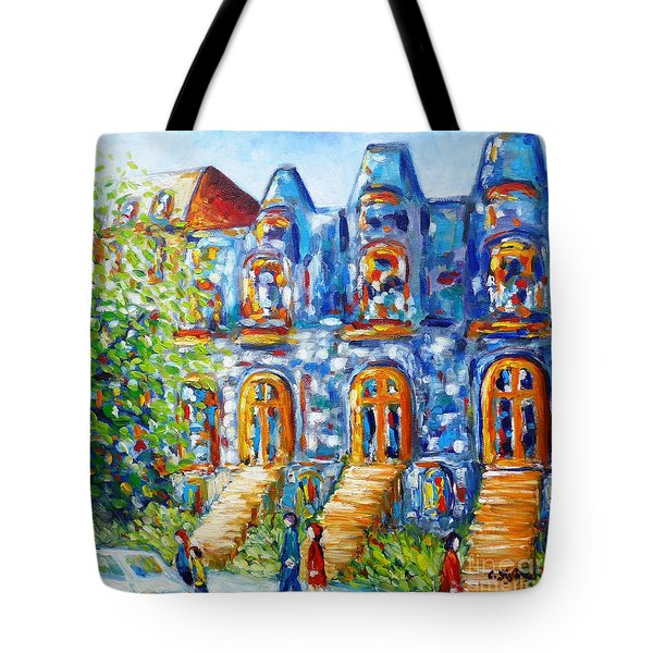 Somewhere In Montreal - Cityscape Tote Bag