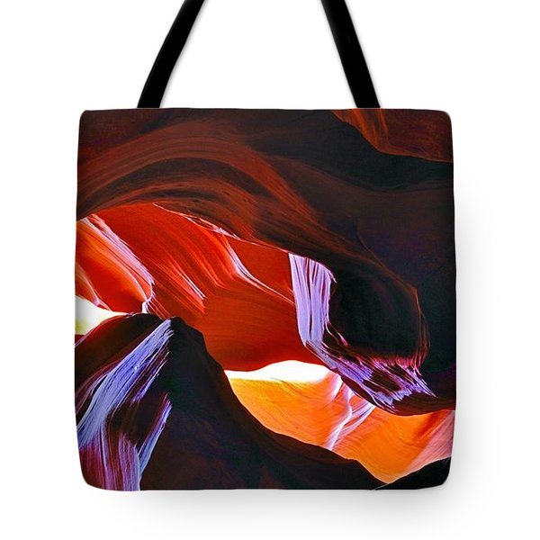 Tote Bag featuring the photograph Somewhere In Waves In Antelope Canyon by Lilia D
