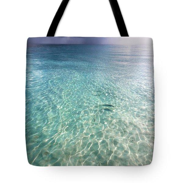 Somewhere Is Rainy. Maldives Tote Bag by Jenny Rainbow