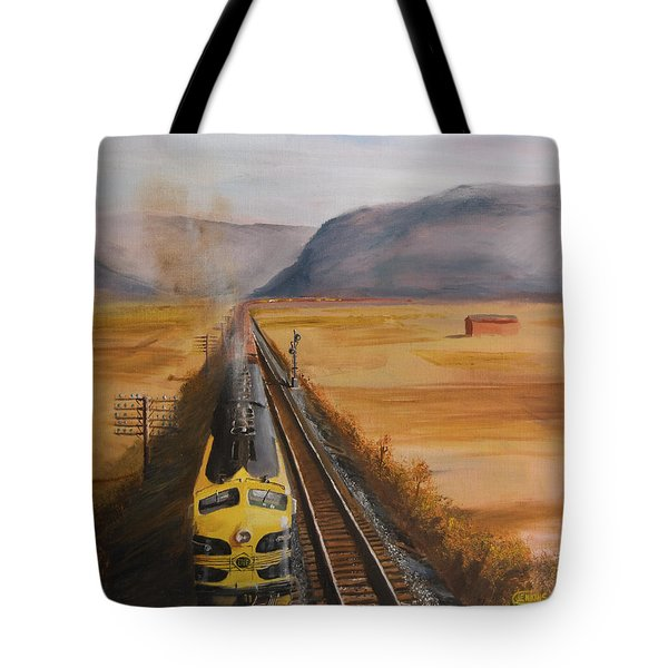 Somewhere West Of Corning Tote Bag by Christopher Jenkins