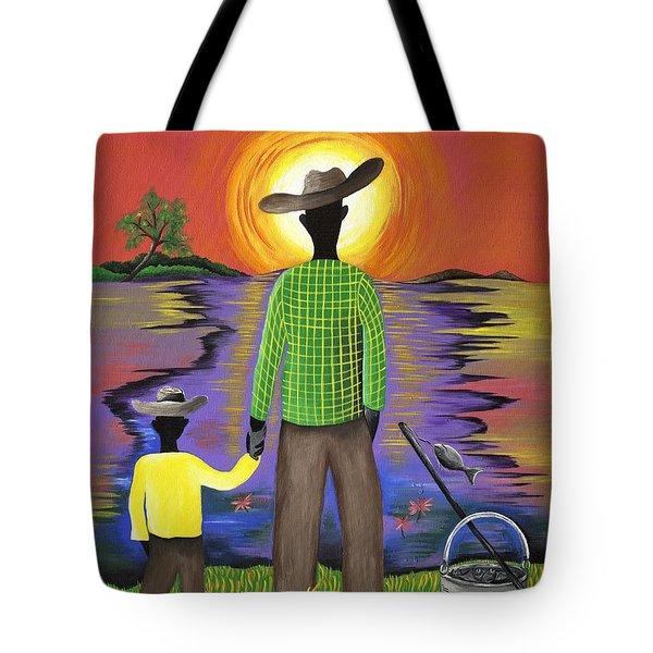 Son Raise Tote Bag by Patricia Sabree