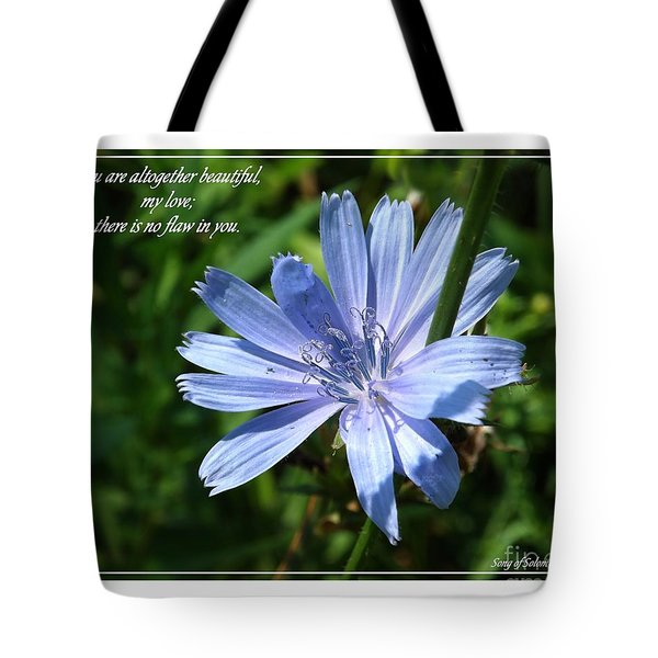 Song Of Solomon 4 Verse 7 Tote Bag by Sara  Raber