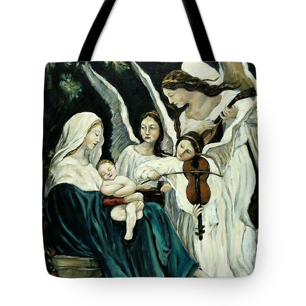 Song Of The Angels Tote Bag by Carrie Joy Byrnes