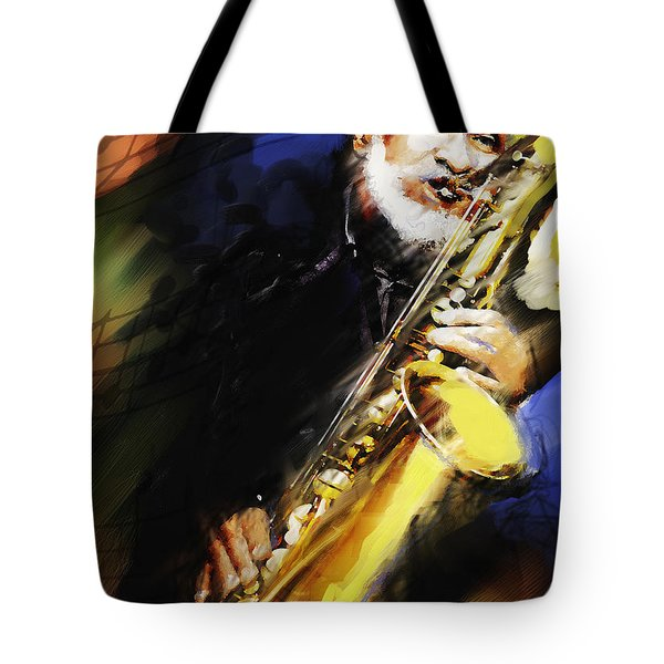 Sonny Rollins Groovin' The Sax Tote Bag