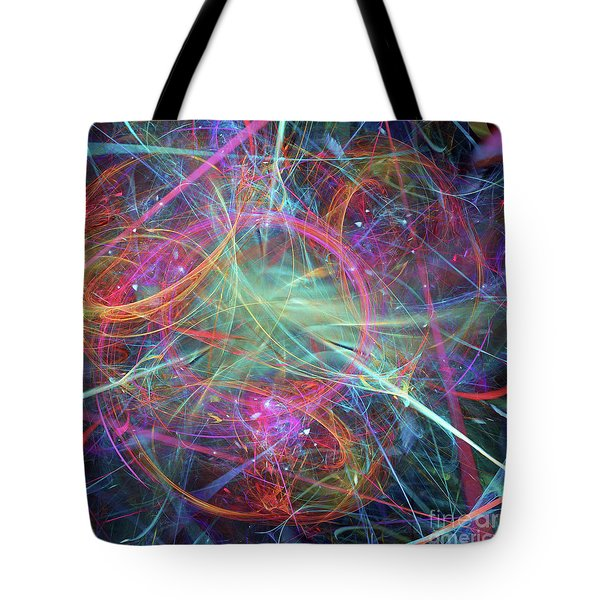 Tote Bag featuring the digital art Sonogram Of The Soul by Margie Chapman