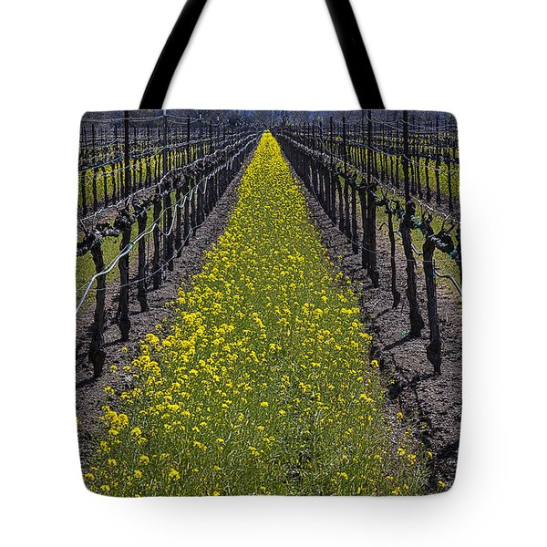 Sonoma Mustard Grass Tote Bag by Garry Gay