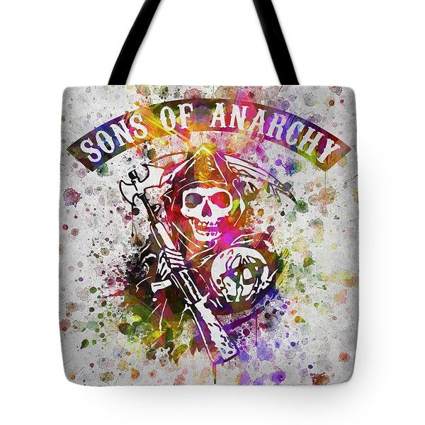 Sons Of Anarchy In Color Tote Bag by Aged Pixel