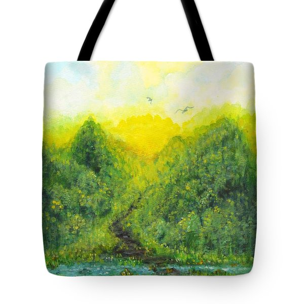 Tote Bag featuring the painting Sonsoshone by Holly Carmichael