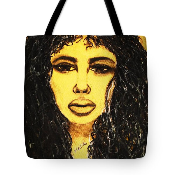 Tote Bag featuring the drawing Sophia by Tarra Louis-Charles