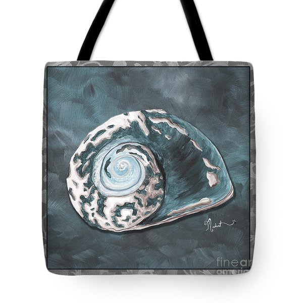 Sophisticated Coastal Art Original Sea Shell Painting Beachy Sea Snail By Megan Duncanson Of Madart Tote Bag by Megan Duncanson