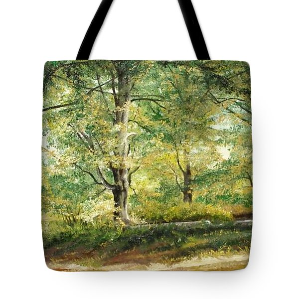 Tote Bag featuring the painting Sorica Mountain by Sorin Apostolescu