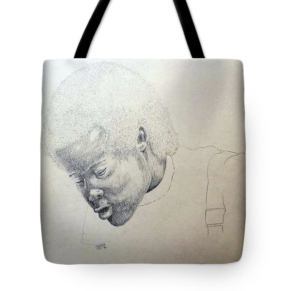 Tote Bag featuring the drawing Sorrow by Richard Faulkner
