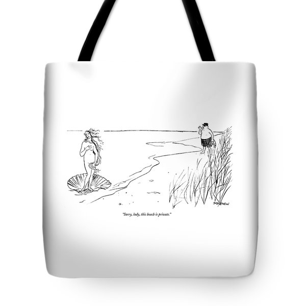 Sorry, Lady, This Beach Is Private Tote Bag