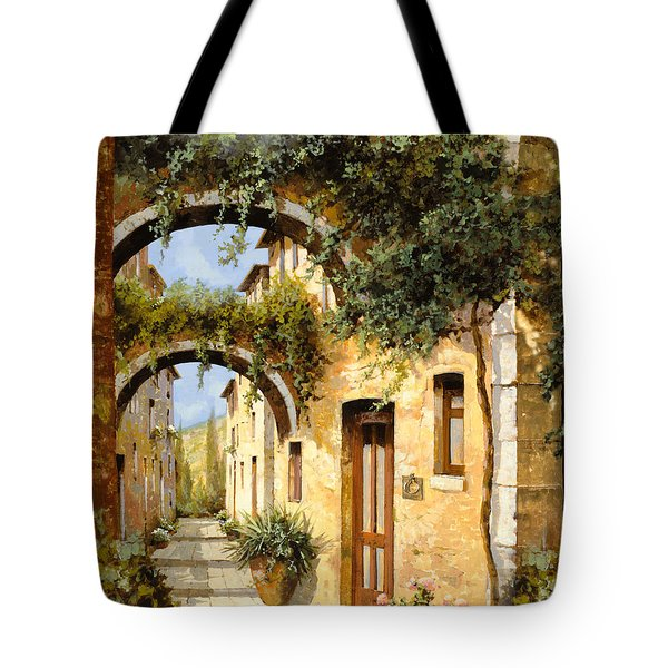 Tote Bag featuring the painting Sotto Gli Archi by Guido Borelli