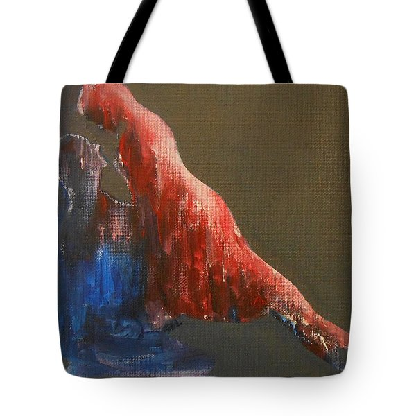 Tote Bag featuring the painting Soul 2 by Jane See