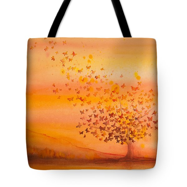 Soul Freedom Watercolor Painting Tote Bag