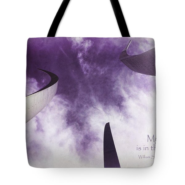 Soul In The Sky - Us Air Force Memorial Tote Bag