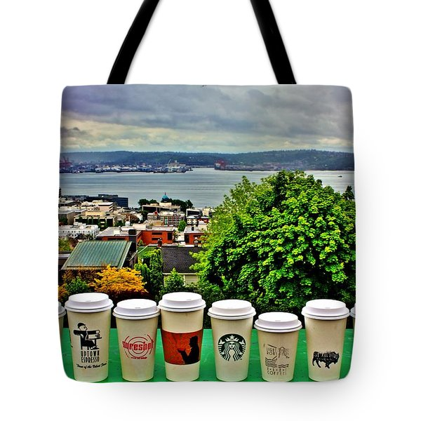 Sound Coffees Tote Bag by Benjamin Yeager