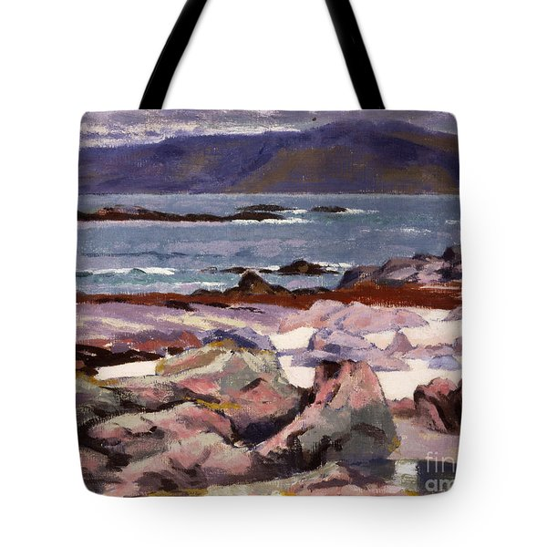 Sound Of Iona  The Burg From The North Shore Tote Bag
