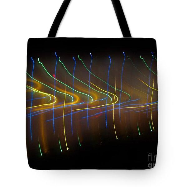 Soundcloud. Dancing Lights Series Tote Bag by Ausra Huntington nee Paulauskaite