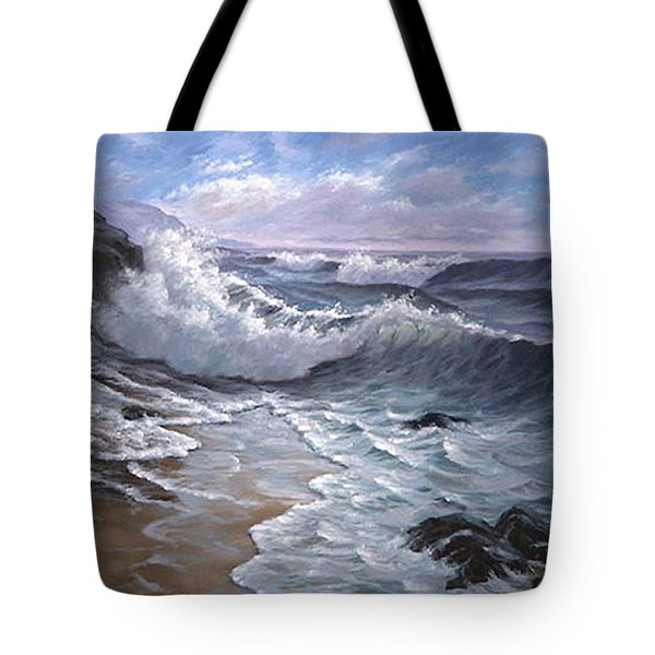 Sounding Waves At Big Sur Tote Bag
