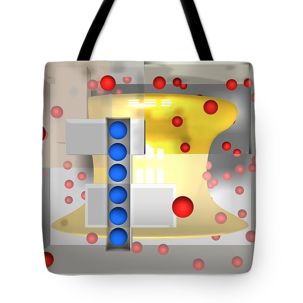 Sounds Reds And Line Of Blue Balls Tote Bag