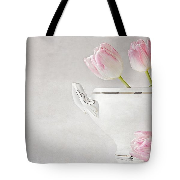 Soup Of Tulips Tote Bag by Claudia Moeckel