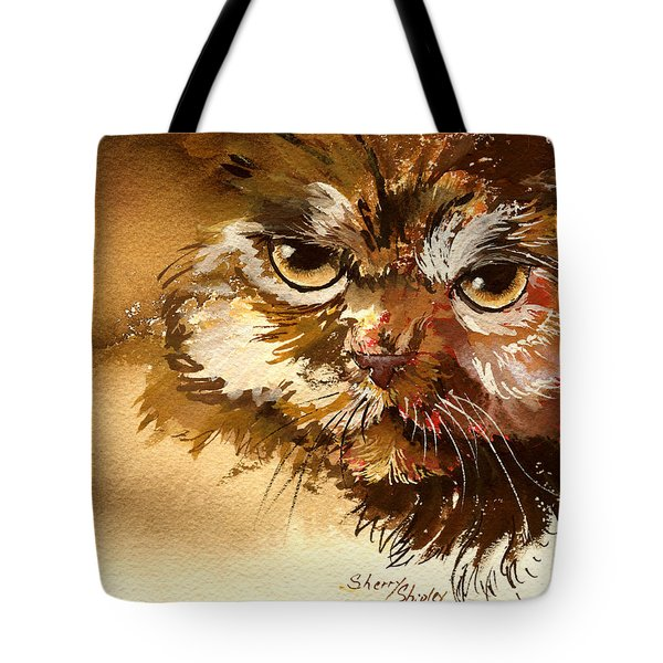 Sour Puss Tote Bag by Sherry Shipley