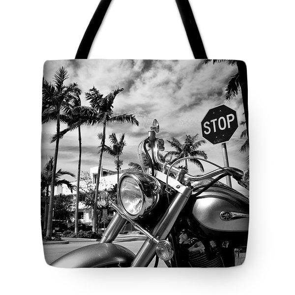 South Beach Cruiser Tote Bag by Dave Bowman