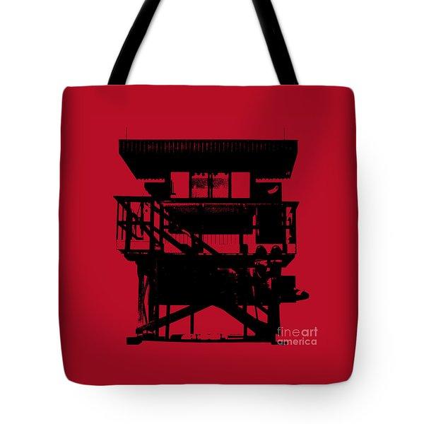 South Beach Lifeguard Stand Tote Bag
