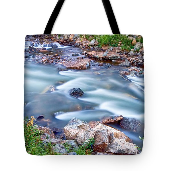 South Boulder Creek Little Waterfalls Rollinsville Tote Bag by James BO  Insogna