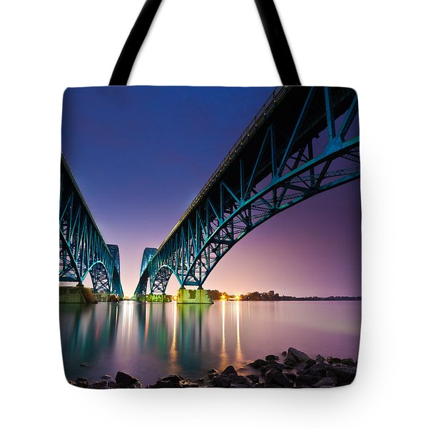South Grand Island Bridge Tote Bag by Mihai Andritoiu
