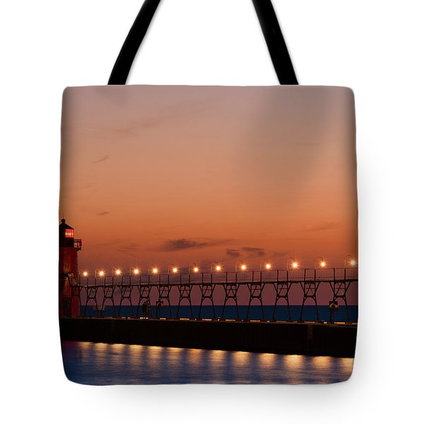 South Haven Reflection Tote Bag by Sebastian Musial
