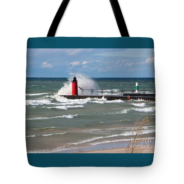 South Haven Splash Tote Bag by Ann Horn