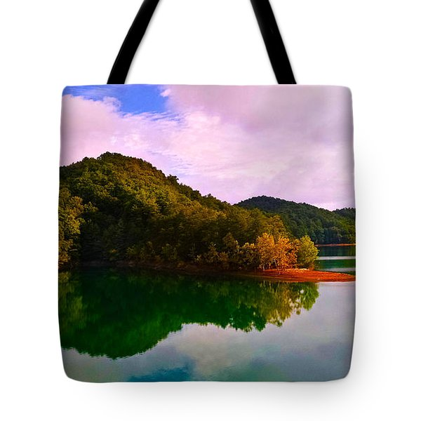 North Holston Lake Mountains Tote Bag