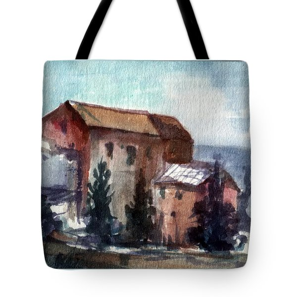 Tote Bag featuring the painting South by Mikhail Savchenko