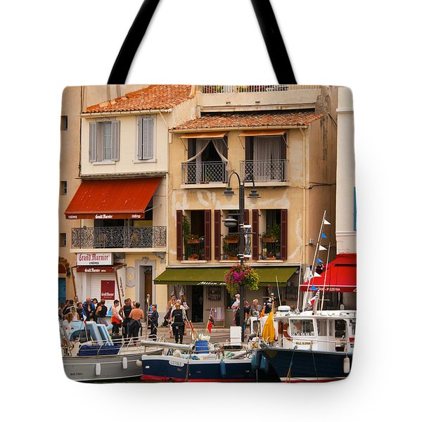 South Of France Fishing Village Tote Bag by Bob Phillips