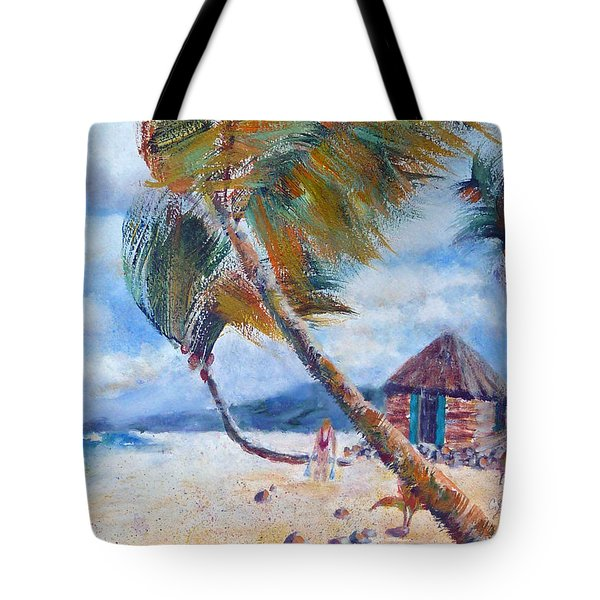 South Pacific Hut Tote Bag