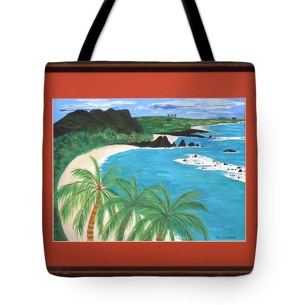 Tote Bag featuring the painting South Pacific by Ron Davidson