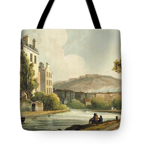 South Parade From Bath Illustrated Tote Bag by John Claude Nattes
