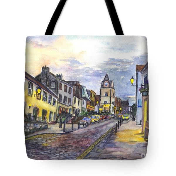 Nightfall At South Queensferry Edinburgh Scotland At Dusk Tote Bag