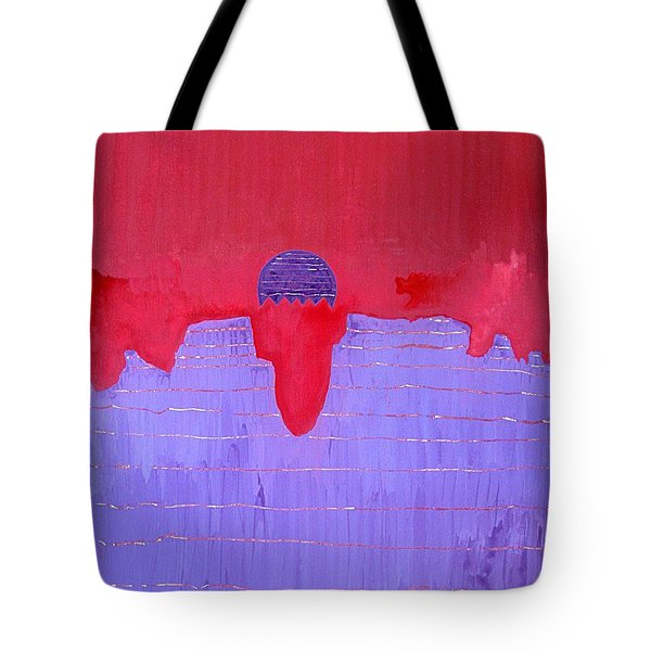 South Rim Sun Original Painting Tote Bag