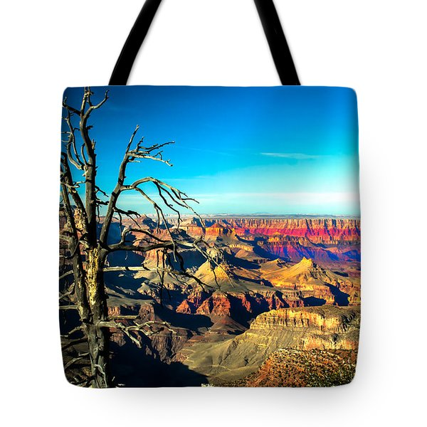 South Rim With A Red Glow Tote Bag