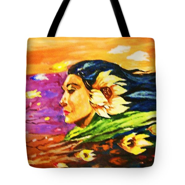South Sea Breeze  Fleeting Blossoms Tote Bag by Al Brown