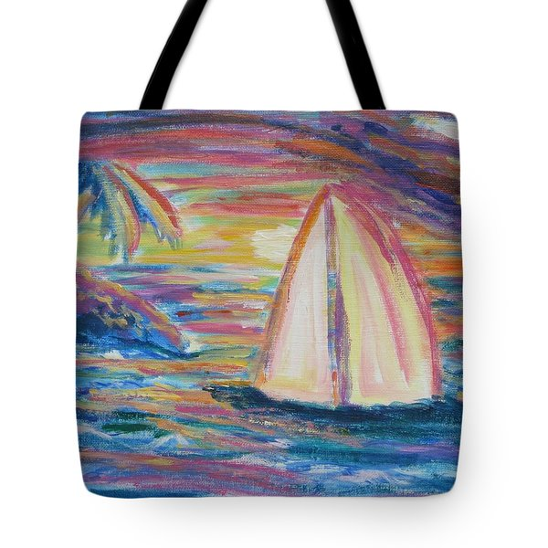 South Seas Sunset Tote Bag