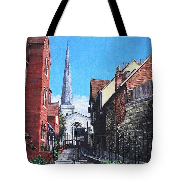 Southampton Blue Anchor Lane Tote Bag by Martin Davey