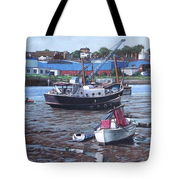 Southampton Northam Boats Tote Bag by Martin Davey