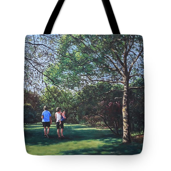 Southampton People In Park Tote Bag by Martin Davey